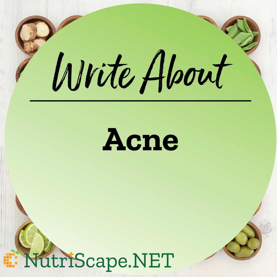 write about acne