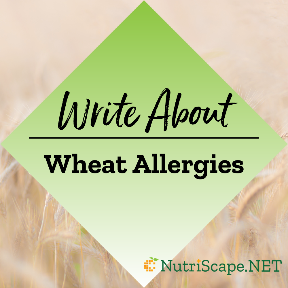 write about wheat allergies