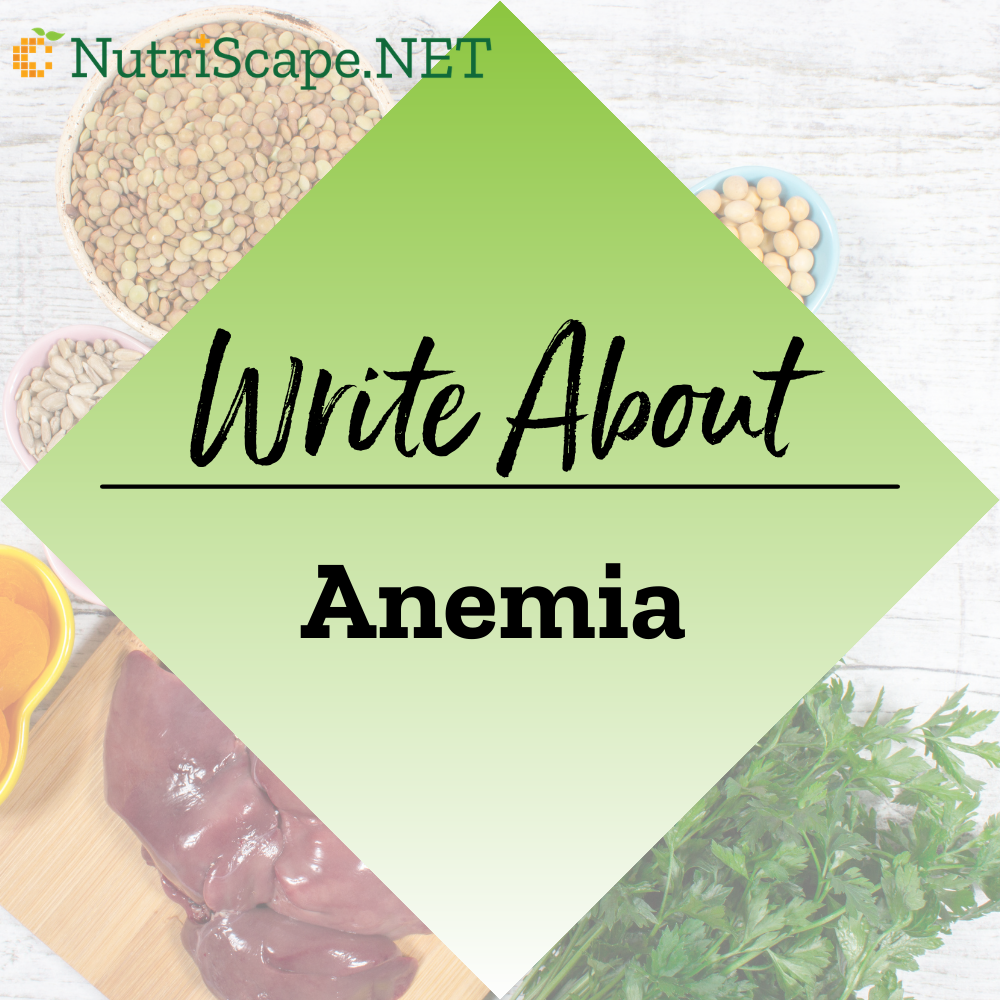 write about anemia