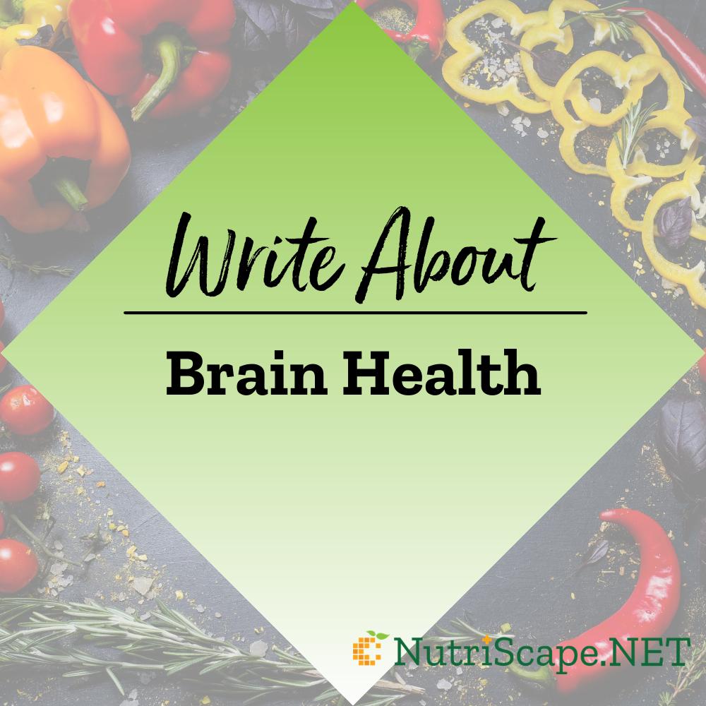 write about brain health