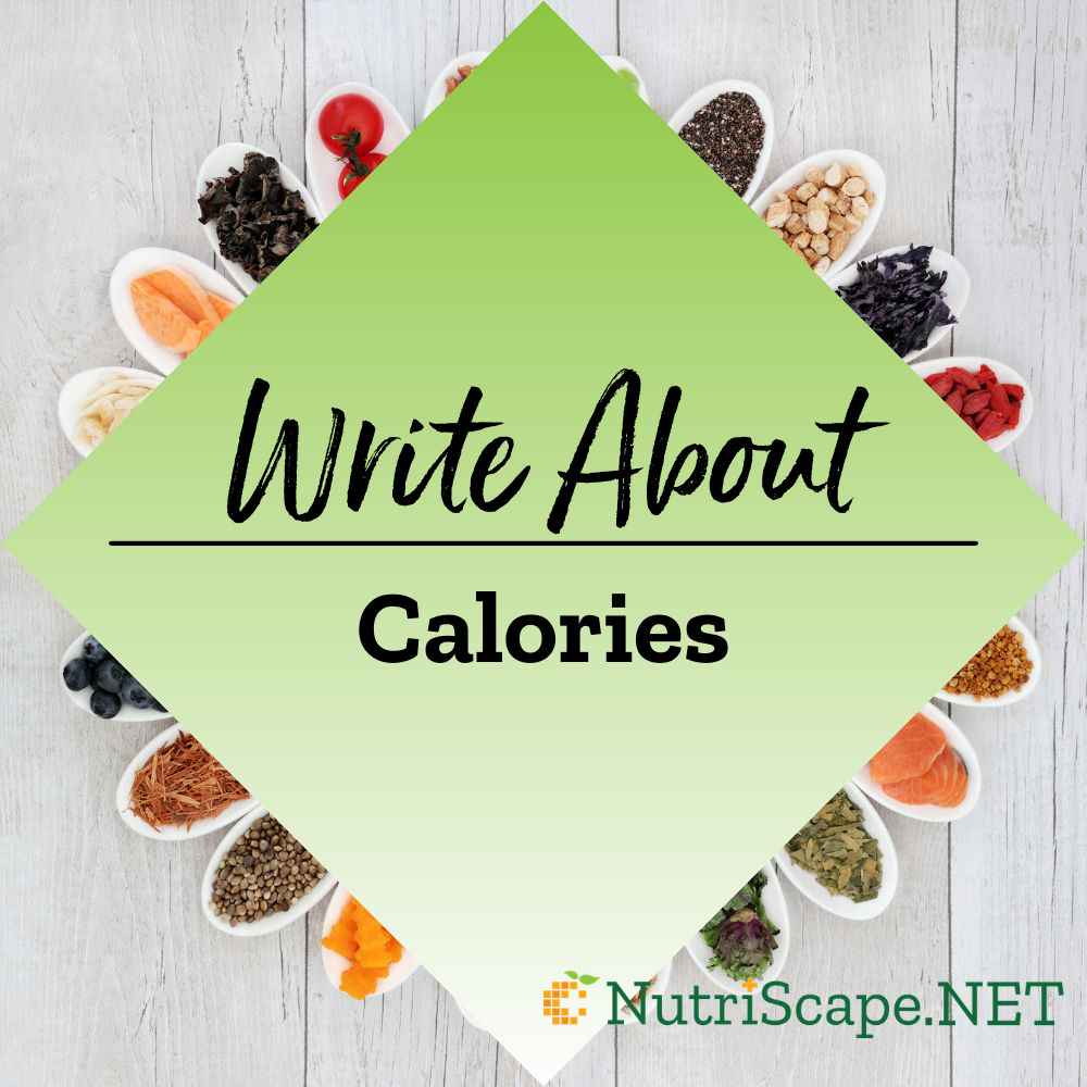 write about calories