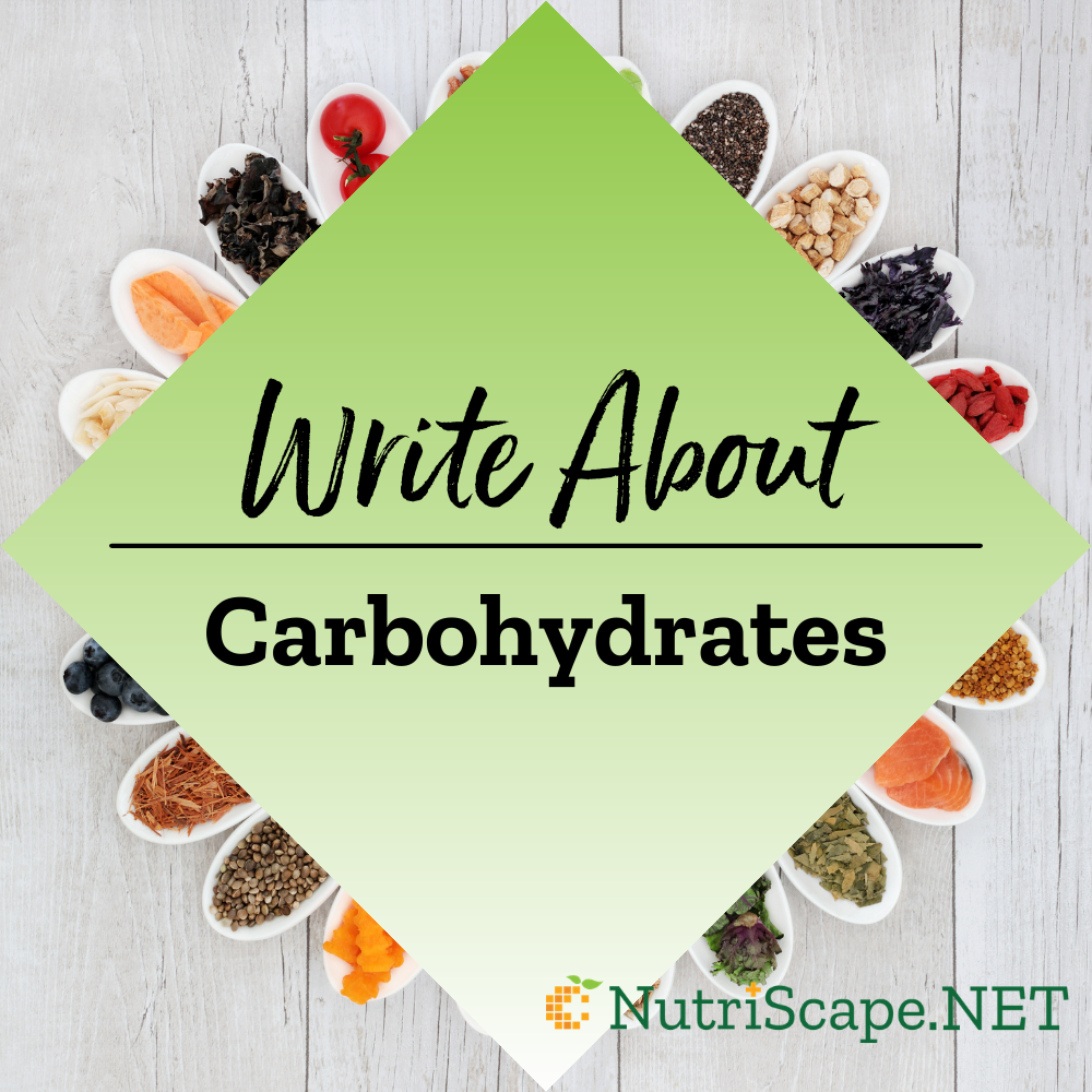 write about carbohysrates