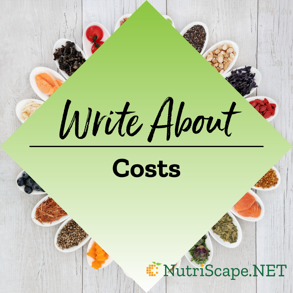 write about costs