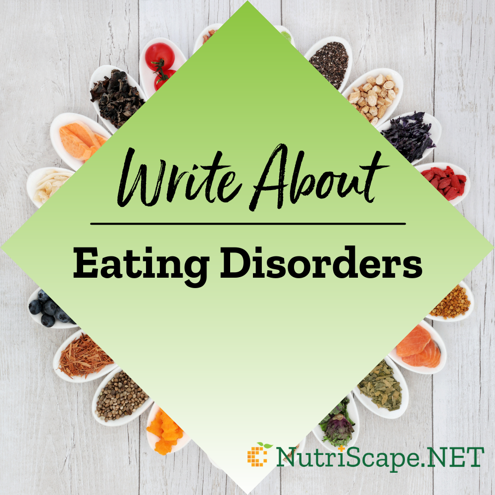 write about eating disorders