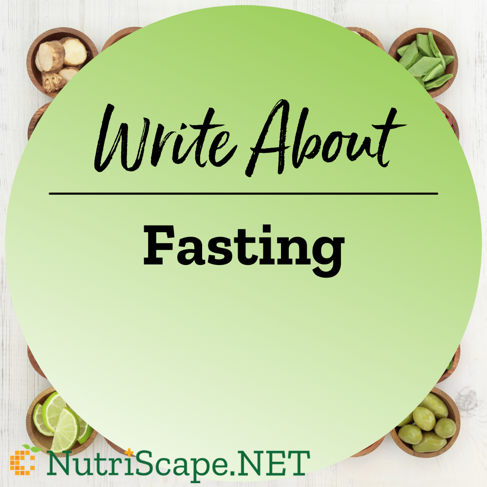 write about fasting