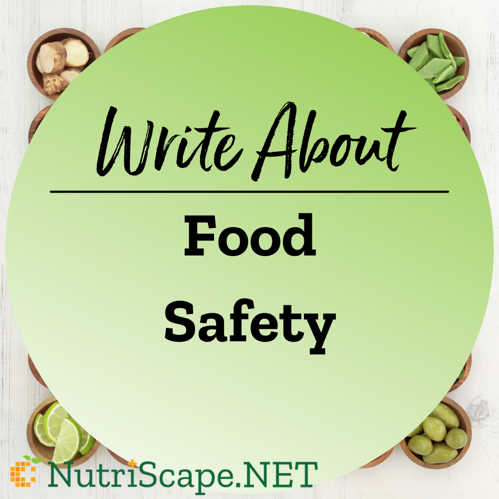 write about food safety