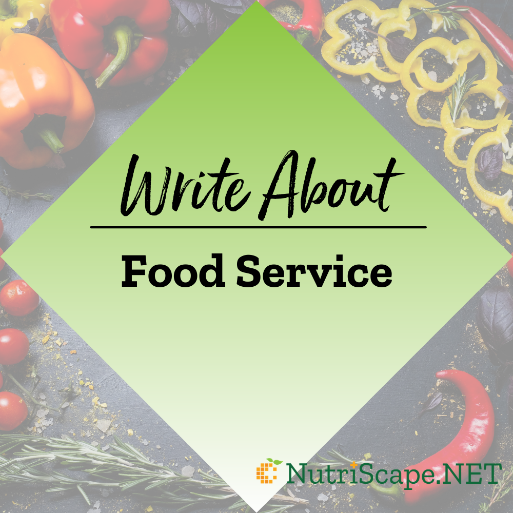 write about food service