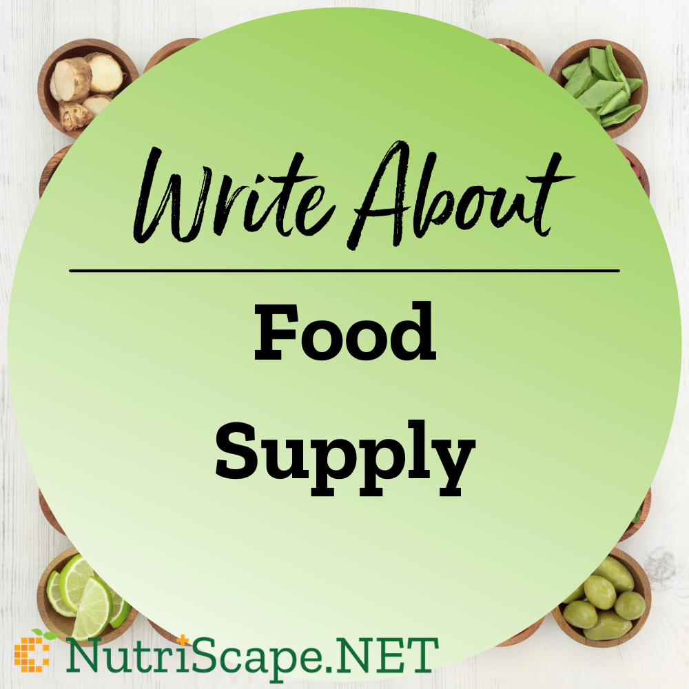 write about a food supply topics