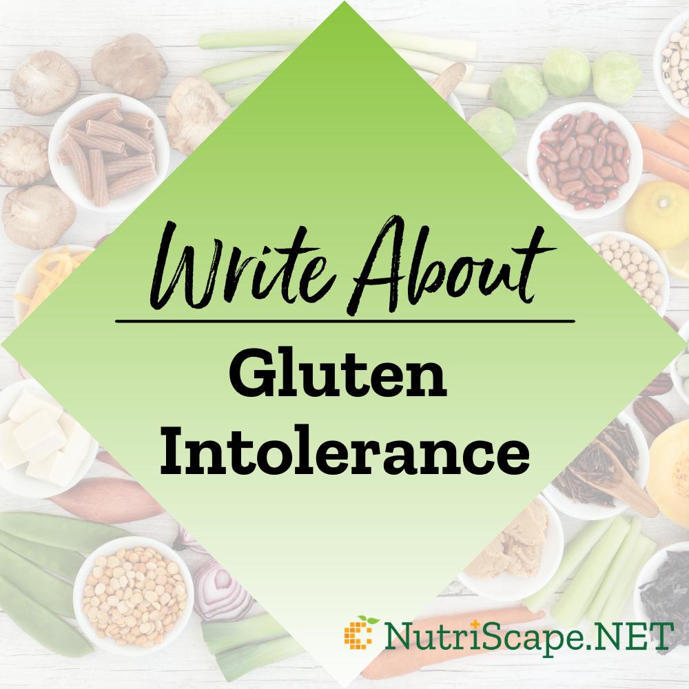 write about gluten intolerance
