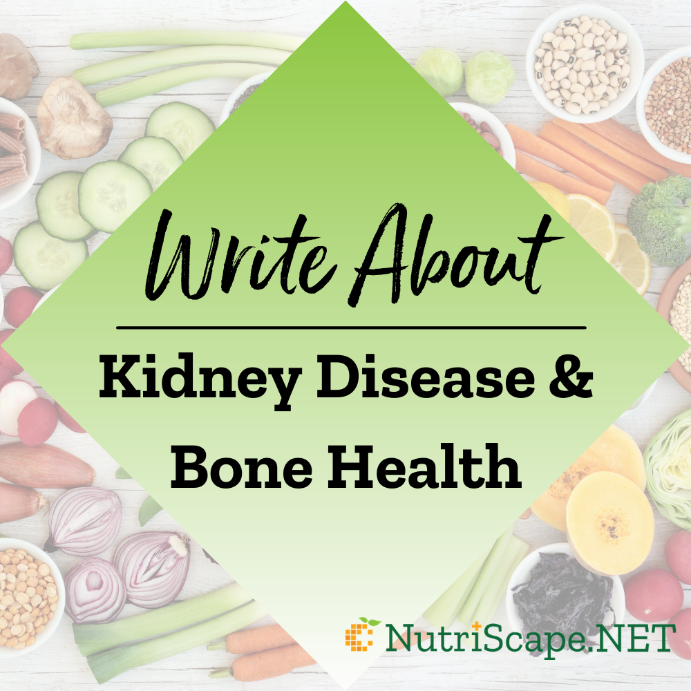 write about kidney disease and bone health