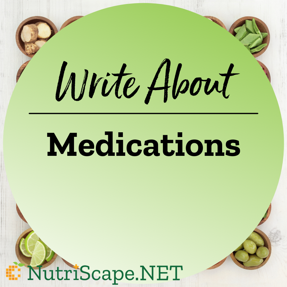 write about medications
