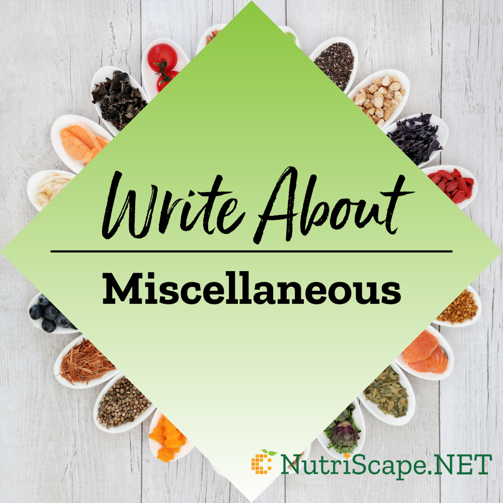 write about a miscellaneous topic