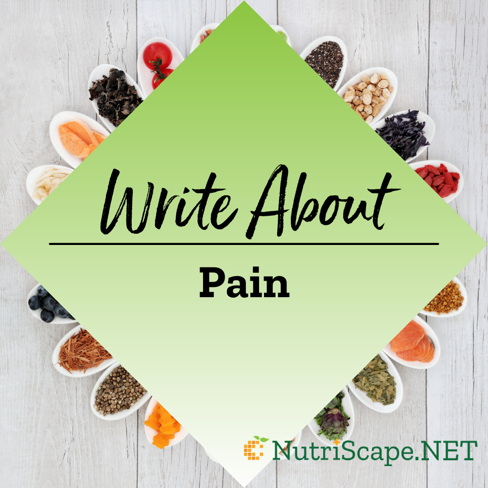 write about pain