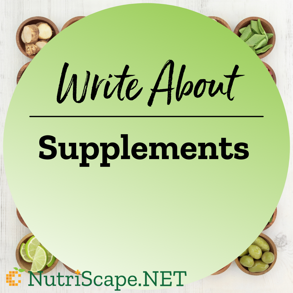 write about supplements