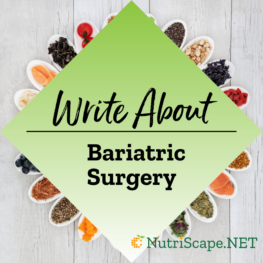 write about bariatric surgery