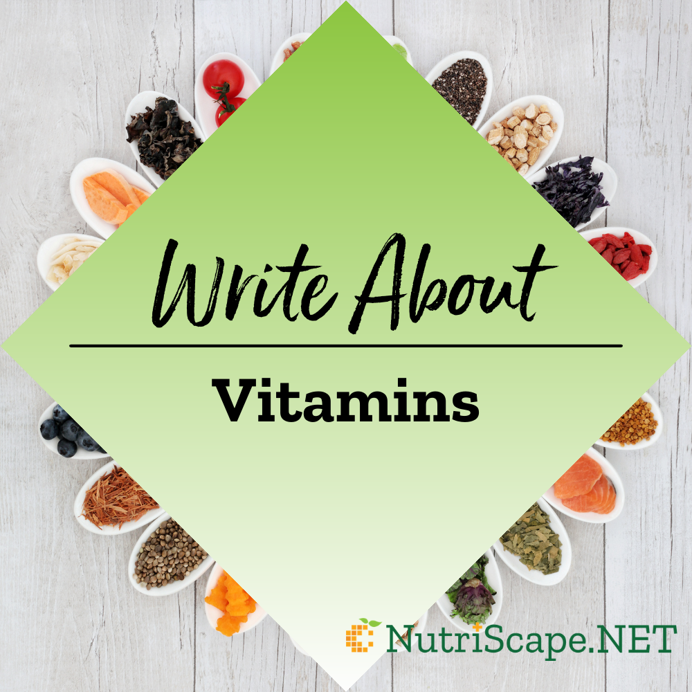 write about vitamins