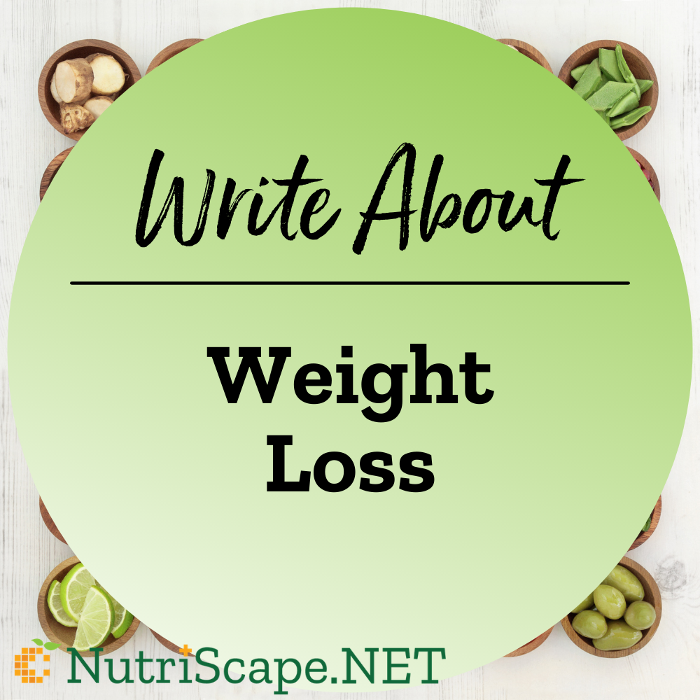 write about weight loss