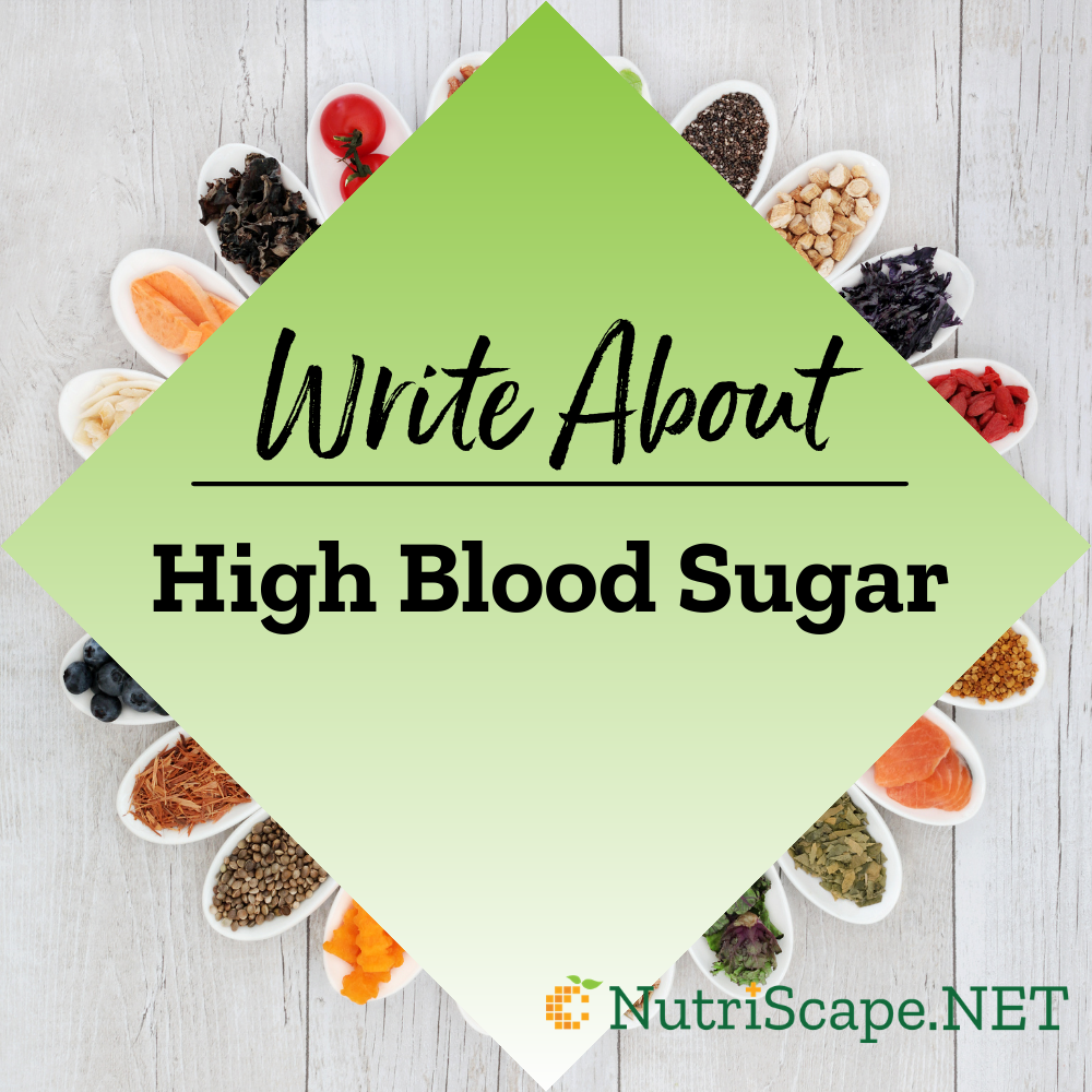 write about high blood sugar
