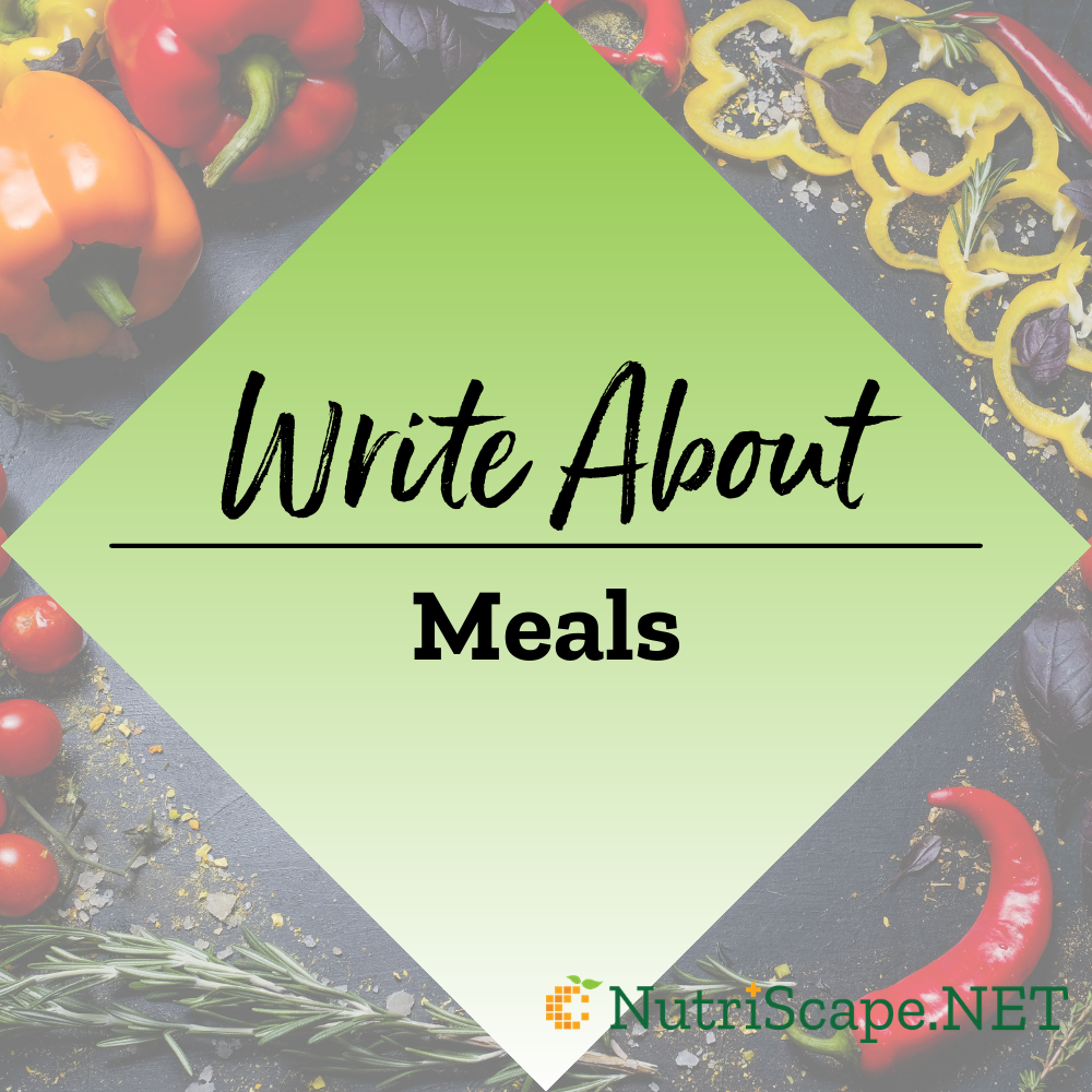 write about meals