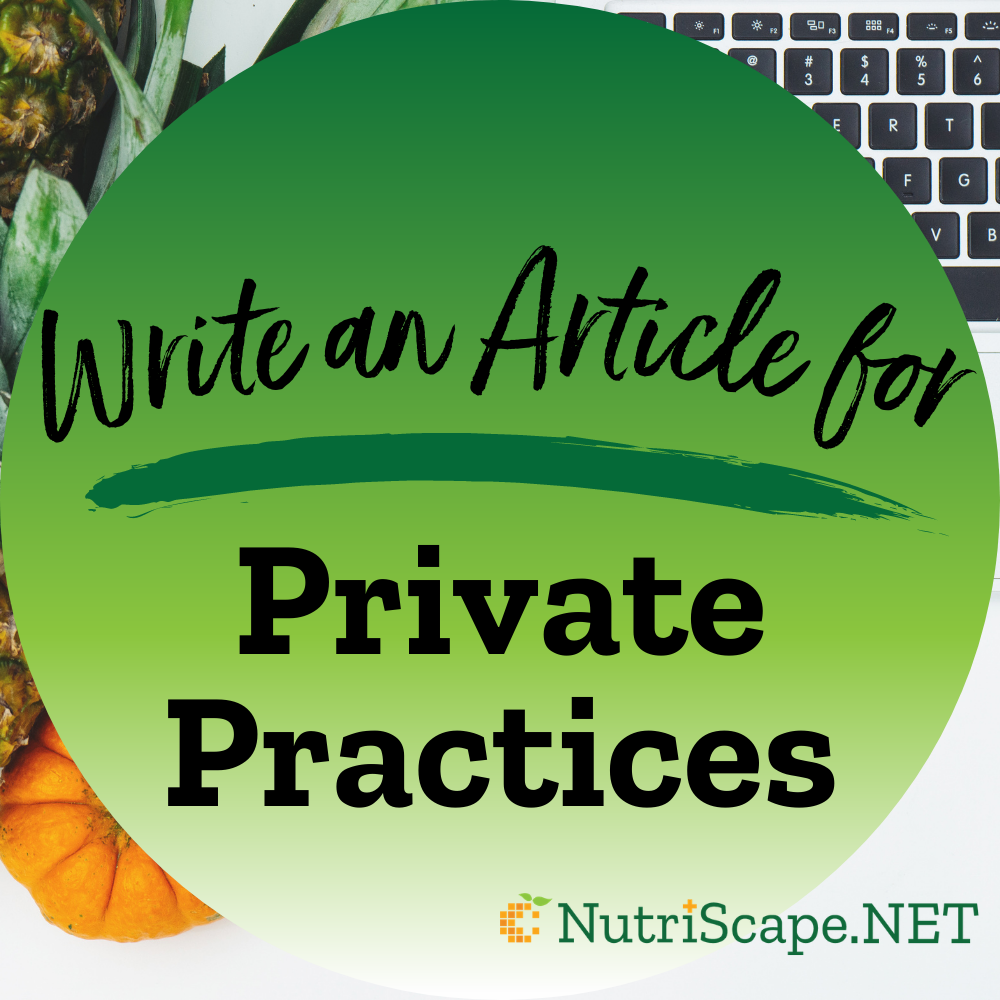 write an article for private practices