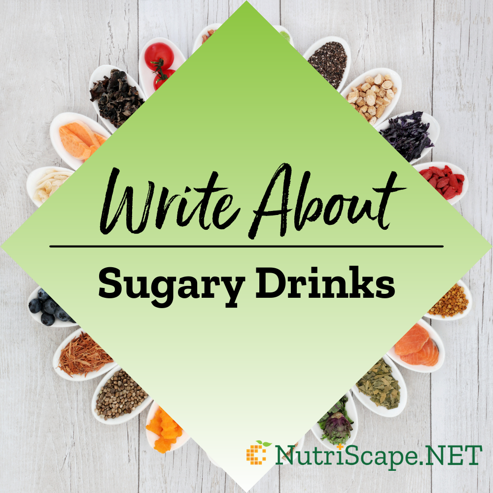 write about sugary drinks