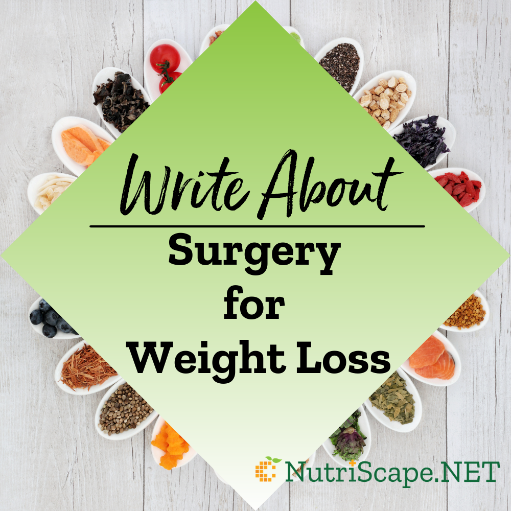 write about surgery for weight loss