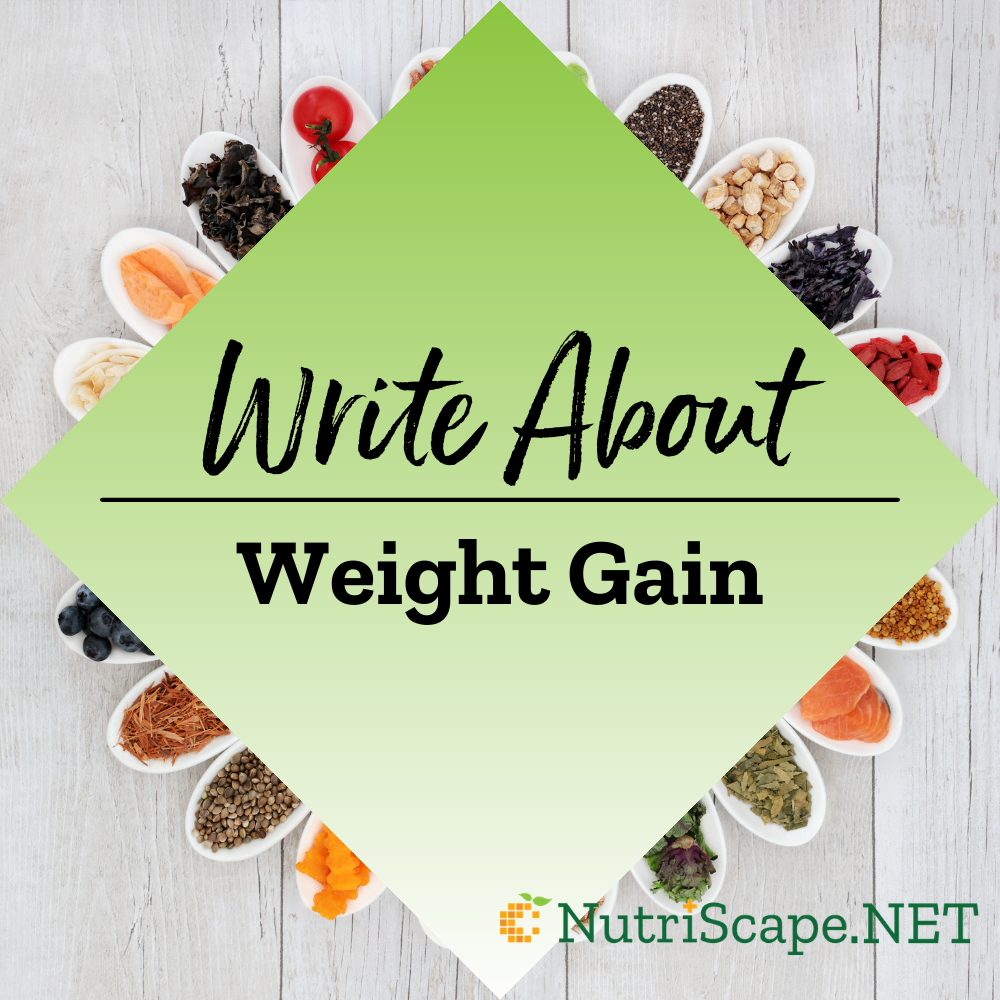 write about weight gain